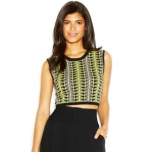 Rachel Roy sleeveless mock-turtleneck crop top!